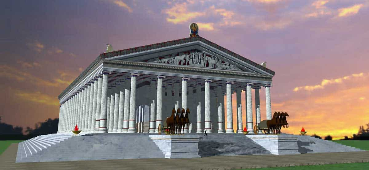 Artists impression of the Temple of Artemis