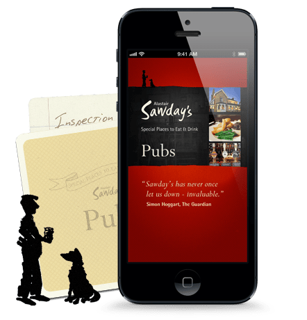 Find UK ride destinations with Sawday's Pubs App
