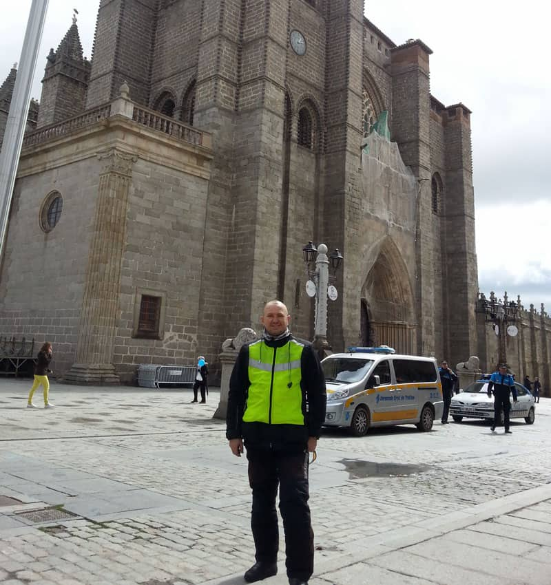 Avila Cathedral just prior to my police escort out of town