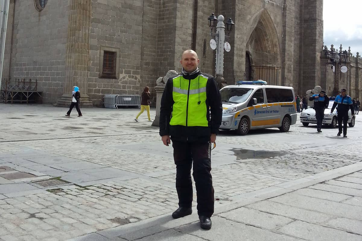 Just before I got a police escort out of Avila
