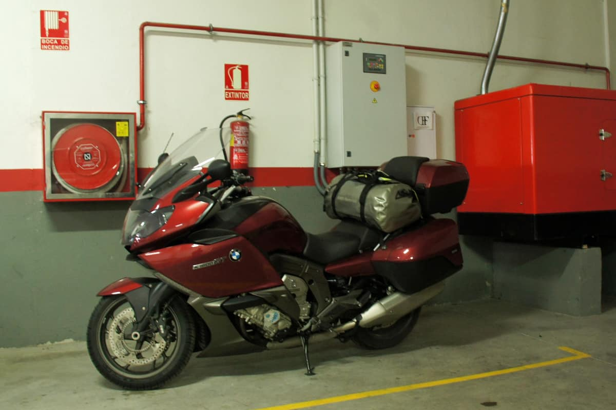 K1600GT in secure garage in Segovia
