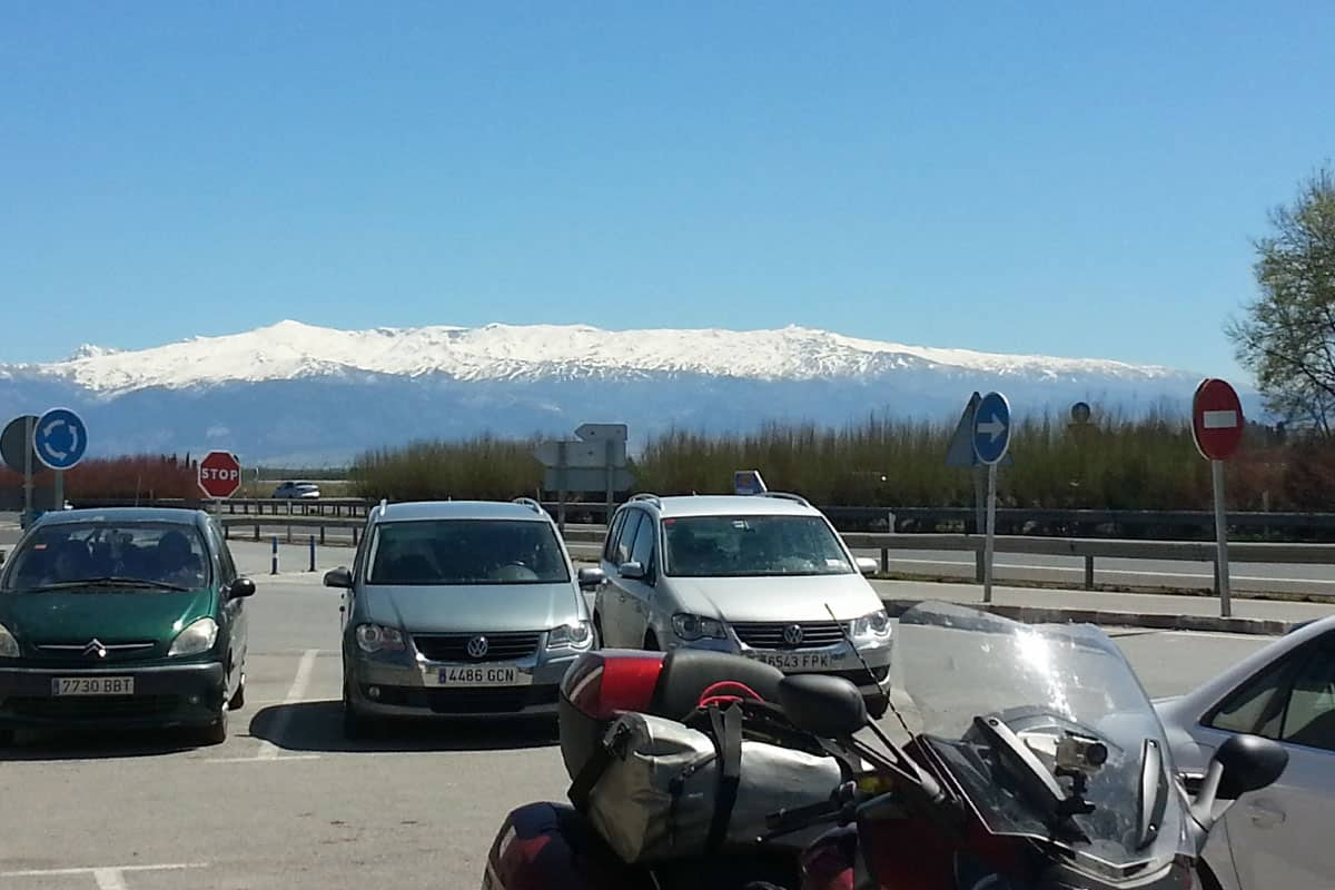sierra navada seen from restaurante marinetto