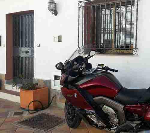 Motorcycle parking at Benalmadena Pueblo